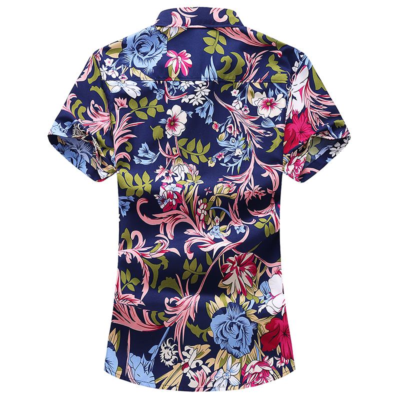 Flower shirt large size S 7XL men 39 s summer new cotton comfortable breathable pattern shirt casual beach short sleeved shirt in Casual Shirts from Men 39 s Clothing