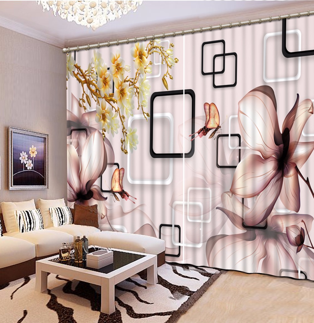 custom 3d curtains Simple flowers valance curtains for living room curtains for kitchen room window curtains|curtains for|curtains for living room|curtain for living - title=