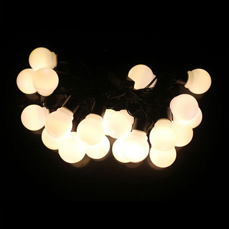 10m 38 5cm big LED Ball String lamps Black wire LED Starry Lights Christmas Wedding indoor outdoor Decoration
