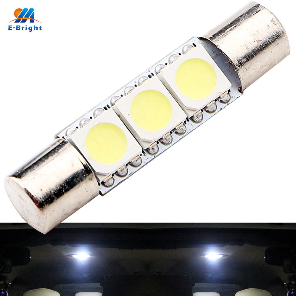 YM E Bright 300 PCS C5W 5050 28MM 31MM 3 SMD Car LED Interior License Plate