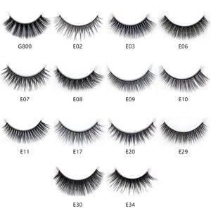 Image 3 - 100 коробок 3D норковые волосы натуральные перекрестные накладные ресницы длинный пачкающий макияж накладные ресницы наращивание макияж инструменты для красоты maquiagem