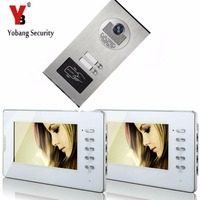 YobangSecurity Home Video Intercom 7 Inch Video Door Phone Doorbell Door Chime RFID Access Control System