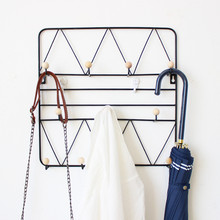 Nordic Creative Wall Hanging Hook Storage Holders Porch Bedroom Dormitory Clothes Hats Keys Sundry Fnishing Decorative Racks