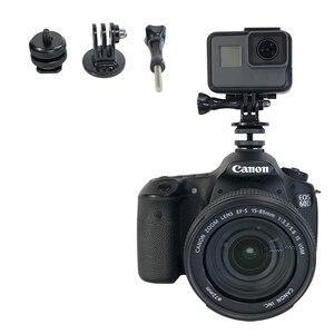 Image 2 - 1/4 pouces Hot chaussure montage trépied monture adaptateur pont pour Canon Nikon SONY SLR pour GoPro SJCAM Xiaomi Yi Action caméra accessoires