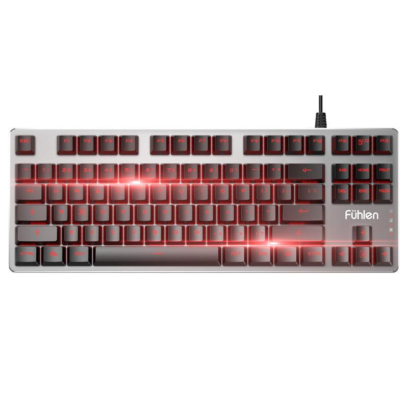 Fuhlen NINE G87 87-key Mechanical Keyboard Red Backlit Cherry MX Switch secret key chubby jelly tint pack cherry red цвет cherry red variant hex name df140d
