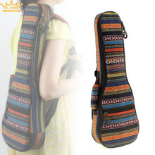 21 Inch/23 Inch  Beautiful Soft Pad Cotton Thickening Folk Style Case Cover Ukulele Backpack Small Guitar Hand Portable Bag