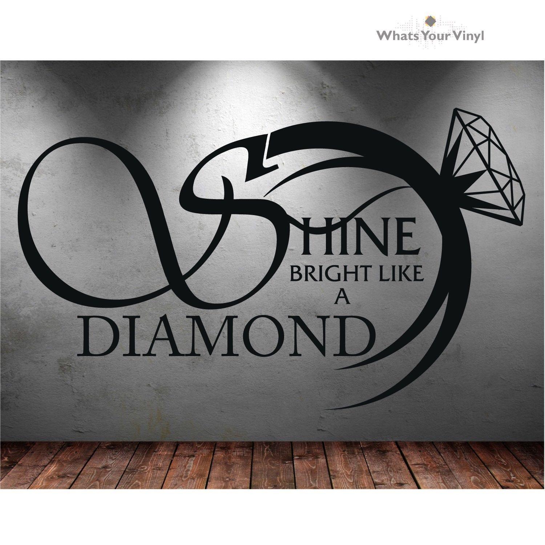Q035 2016 Novi vrući uklonjivi sjaj sjajan poput dijamantske vinilne - Kućni dekor