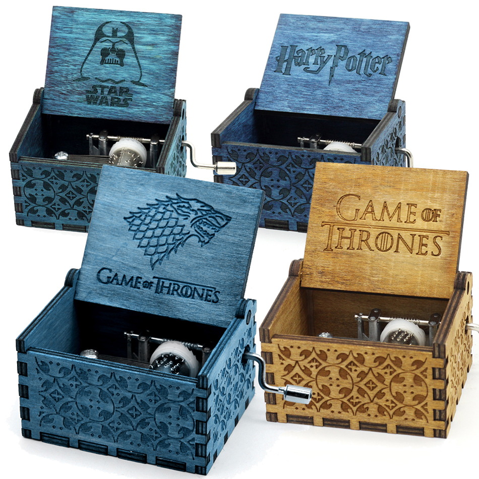 Two Colors Star Wars Music Box Game of Thrones Music Box Harry Potter Music Theme Caixa De Musica A Birthday Present dedo music gifts mg 308 pure handmade rotating guitar music box blue