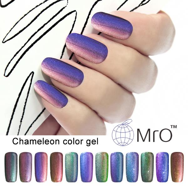 2016 2 pieces/lot Mro color uv gel nail polish is a chameleon gel ...
