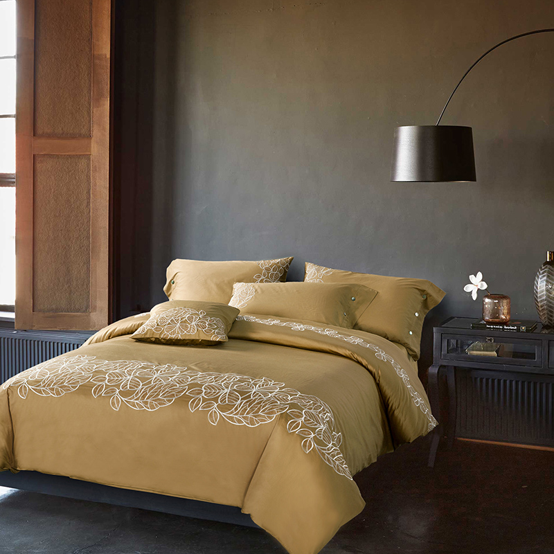 ▻Nueva llegada de lujo 60 s algodón Bordado Ropa de cama conjunto ...