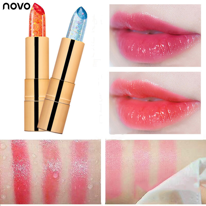 NOVO Jelly Lipstick Makeup Magic Temperature Changing Color Korean Style Color Tint Lip Stick Lasting Waterproof Lip Balm