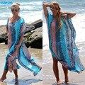 2016 Vestido de Praia Kaftan Praia Sarongs Sexy Cover-Up Túnica de Chiffon Biquíni Swimwear Maiô maiô Encobrimentos Pareo