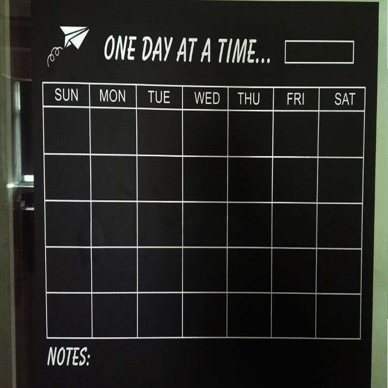 Vinyl Diy Weekly Chalkboard Calendar Blackboard Sticker