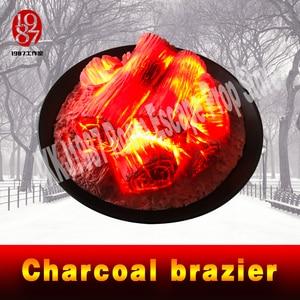 Image 3 - escape game prop Round Electric fireplace simulation Charcoal brazier fake firewood bar KTV decoration craft Christmas JXKJ1987