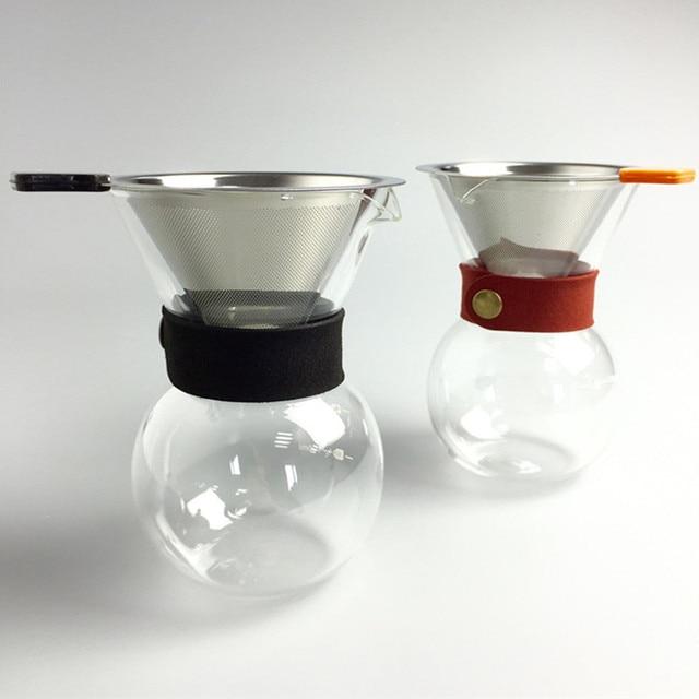 Kaffeefilter Edelstahl wiederverwendbare edelstahl kaffeefilter 200 ml glas tropf topf