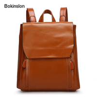 New Style 2015 Student Small Ladies Backpacks College Wind PU Leather With Coin Pocket Backpack Women