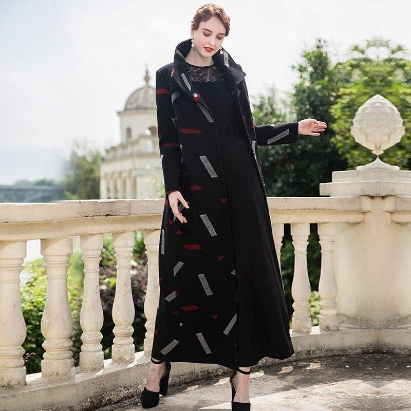 Hiver Laine Mode 8002 Vêtements Vintage Élégant À Droite Turn Femme down La Manteaux Collar Femmes 2018 qgIatR