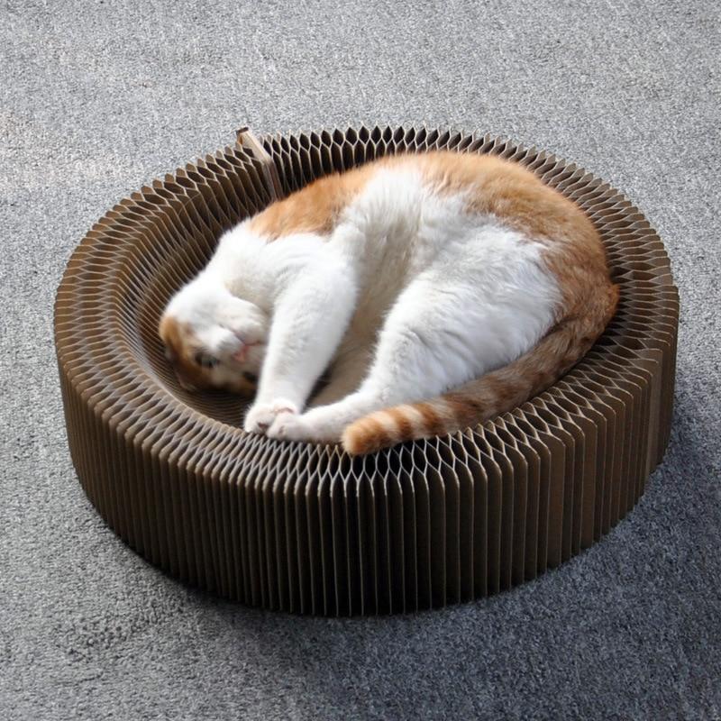 Pet Cat Products Foldable Corrugated Parper Cat Love Scratch Paper