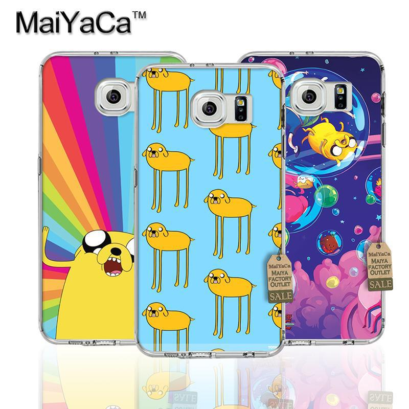 Maiyaca мультфильм время приключений Pattern Прозрачный ТПУ мягкий чехол для телефона Samsung S4 S5 S6 S6 Edge S6 Edge Plus чехол