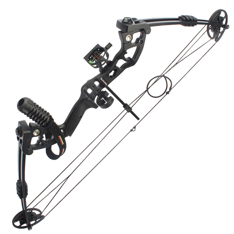 цена M131 30-55 Lbs Compound Bow with Sight Brush Stabilizer D-Ring Wrist Ropes and Release Aid for Hunting Shooting Archery онлайн в 2017 году