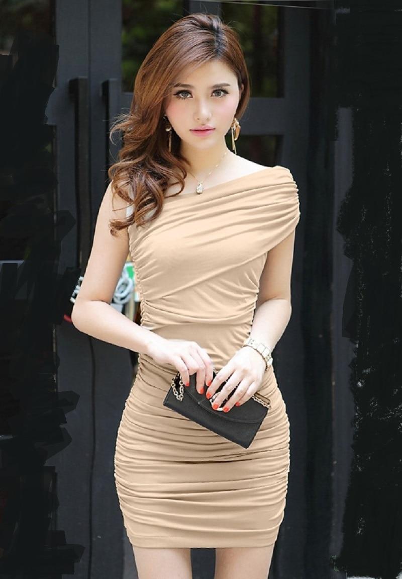 Hot Sale Korean Women Ladies Sexy Casual High Waist Slim Hip Bodycon Mini Dress Summer Stylein