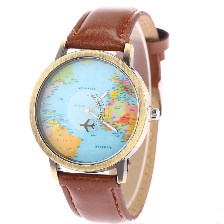 JUNYU World Map Watch Globe Graduation Gave til kvinder Wanderlust - Mænds ure - Foto 3