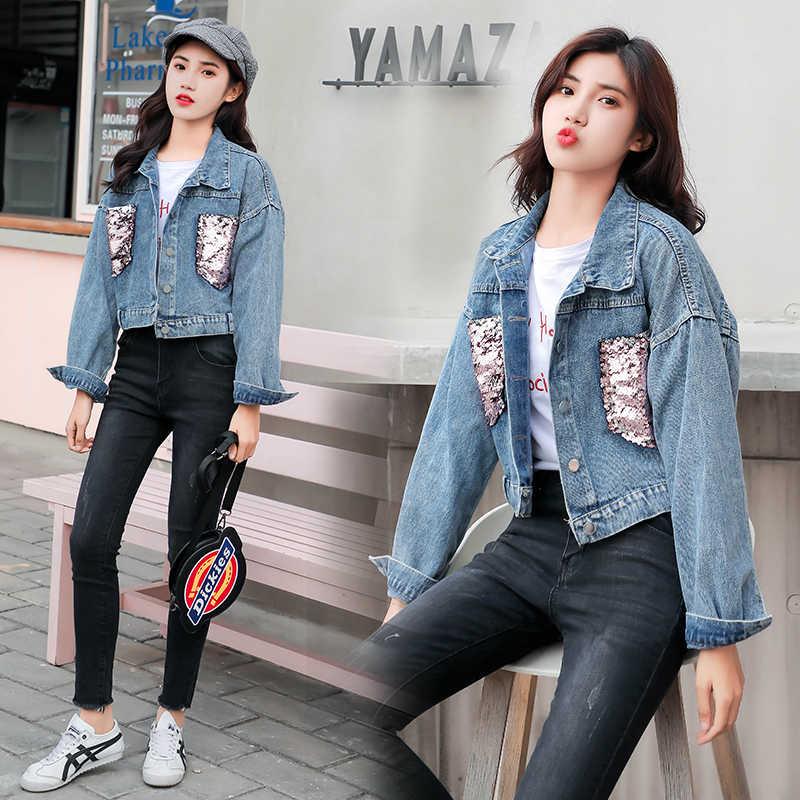 A buon mercato all'ingrosso 2019 nuovo autunno di vendita Caldo di inverno di modo delle donne Giacca di Jeans casuale FP5681