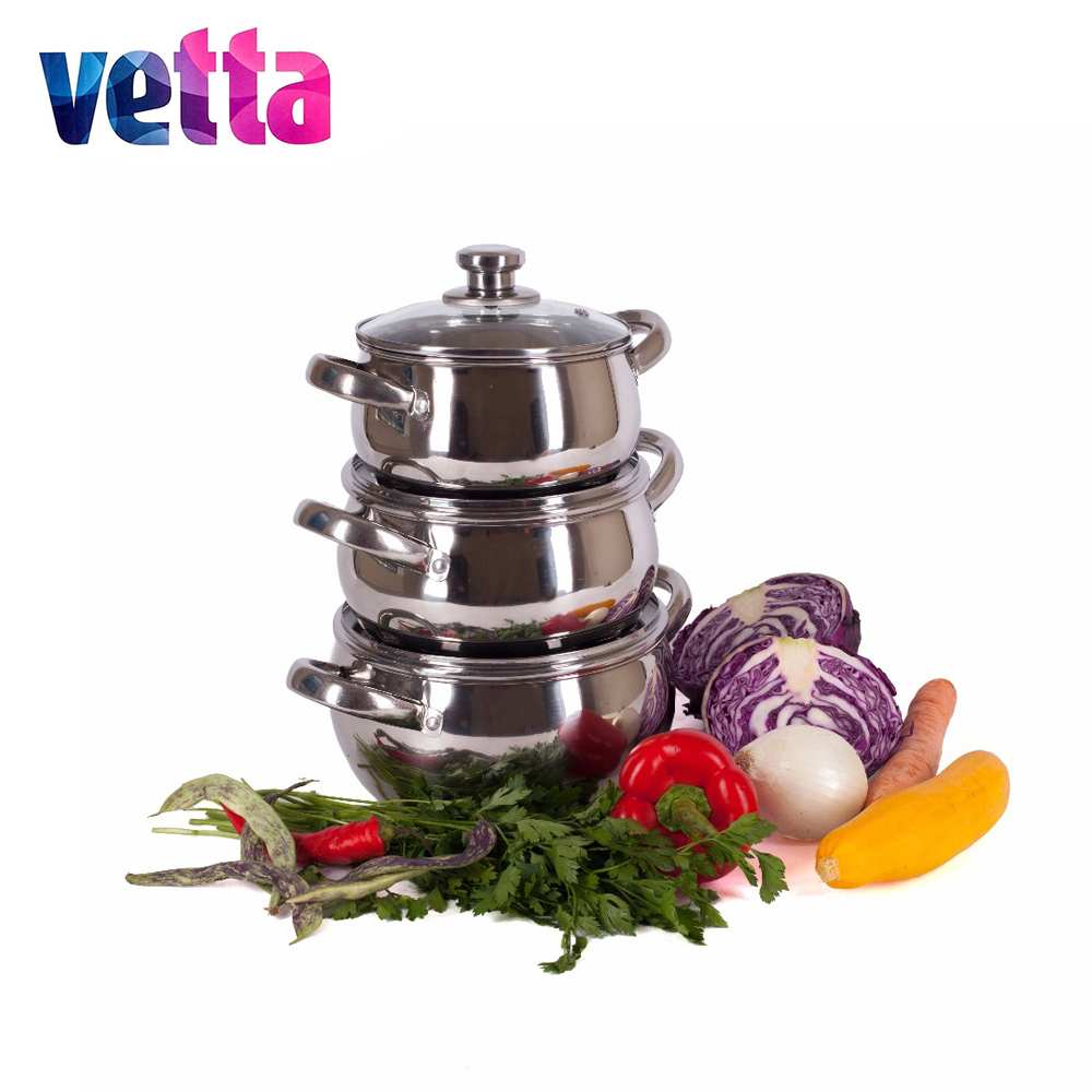 SET pans Vetta 6 pcs PENCILS 1 7 2 4 2 9 WITH COVERS Kitchen