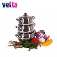 SET Pans Vetta 6 Pcs PENCILS 1 7 2 4 2 9 WITH COVERS Kitchen