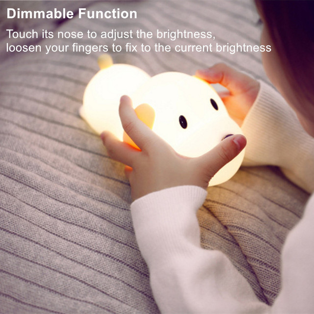 New Concept Child Carton Silicone Can Be Adjusted Night Lights Lovely Puppy  Shape As LED Table