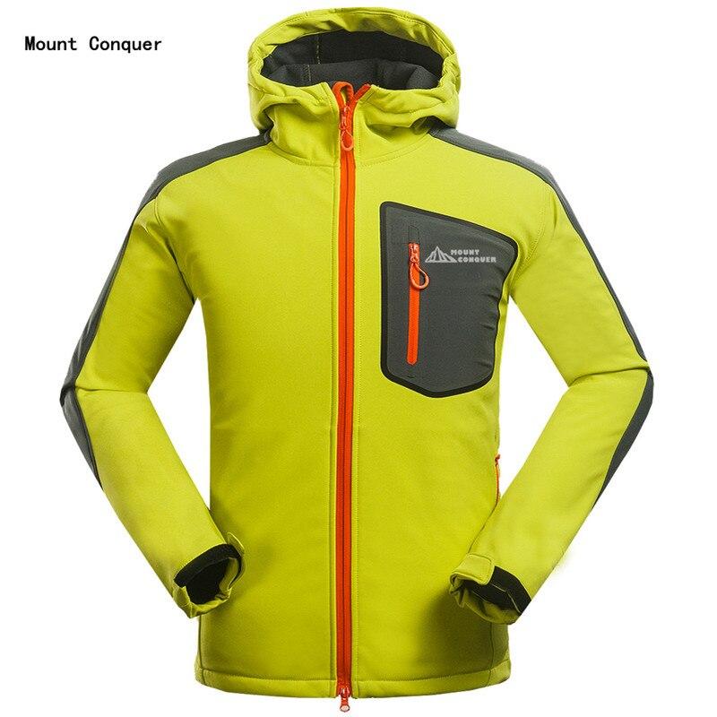 2019 Men Hiking Jacket Softshell Fleece Male Jacket Windproof Waterproof Repellent Outdoor Sport Wear Camping Riding Breathable