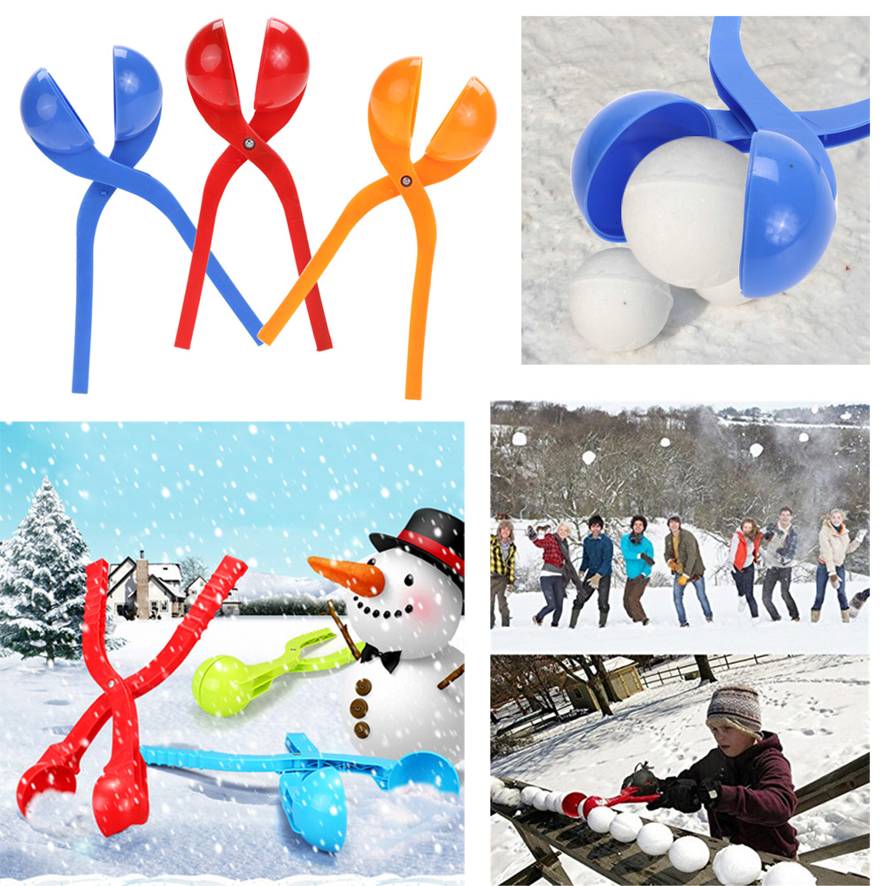 Winter Snowball Maker Sand Mold Tool Kids Toy Lightweight Compact Snowball Fight Sports Outdoor Games for Children снежкометатель snowball launcher