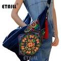 National Handmade Fabric Boho Thai  Embroidered Bags Embroidery One Shoulder Cross-body Women Messenger Handbag Sac a Dos Femme