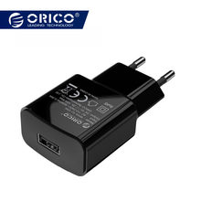 ORICO Mobile Phone Charger 5V 1A 5W / 5V 2A 10W USB Travel Charger Portable Wall Adapter EU Plug Black / White for iphone x(China)