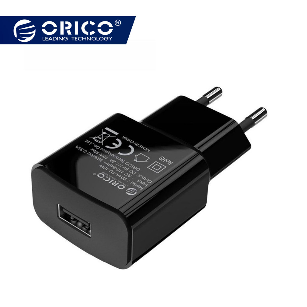 ORICO Mobile Phone Charger 5V 1A 5W / 5V 2A 10W USB Travel Charger Portable Wall