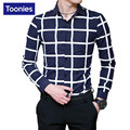 Mens Shirts Casual Slim Fit New Brand-clothing Business Plaid Men Shirt Single Breasted Camisa Social Masculina Plus Size Shirts