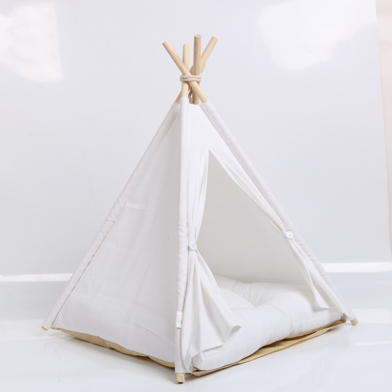 2018 New style pet supplies mongolian house foldable dog house pet tent wooden pet teepee outdoor dog house washable dog bed ...