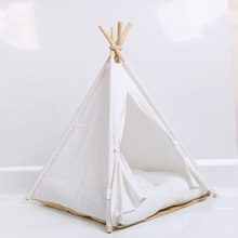 New style pet supplies mongolian house foldable dog tent wooden teepee outdoor washable bed