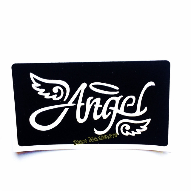 Angel Wing Pattern Hollow Henna Tattoo Stencil Airbrush Painting ...