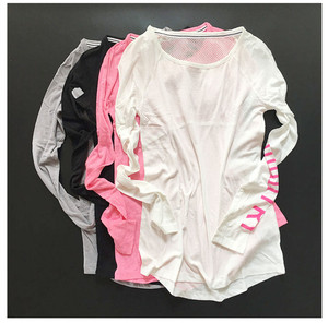 Image 2 - Fitness Breathable Sportswear Women T Shirt Sport Suit Yoga Top Quick Dry Running Shirt Gym Clothes Sport Shirt Jacket  P189
