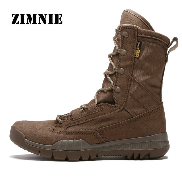 ZIMNIE Outdoor Sports Tactical Men Boots Hiking Shoes For Mountain Shoes For Camping Climbing High Quality Leather Boots Shoes