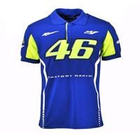 2017 Valentino Rossi VR46 Racing Blue MotoGP Polo Shirt Men S Motorcycle Racing Biking Poloshirt 23