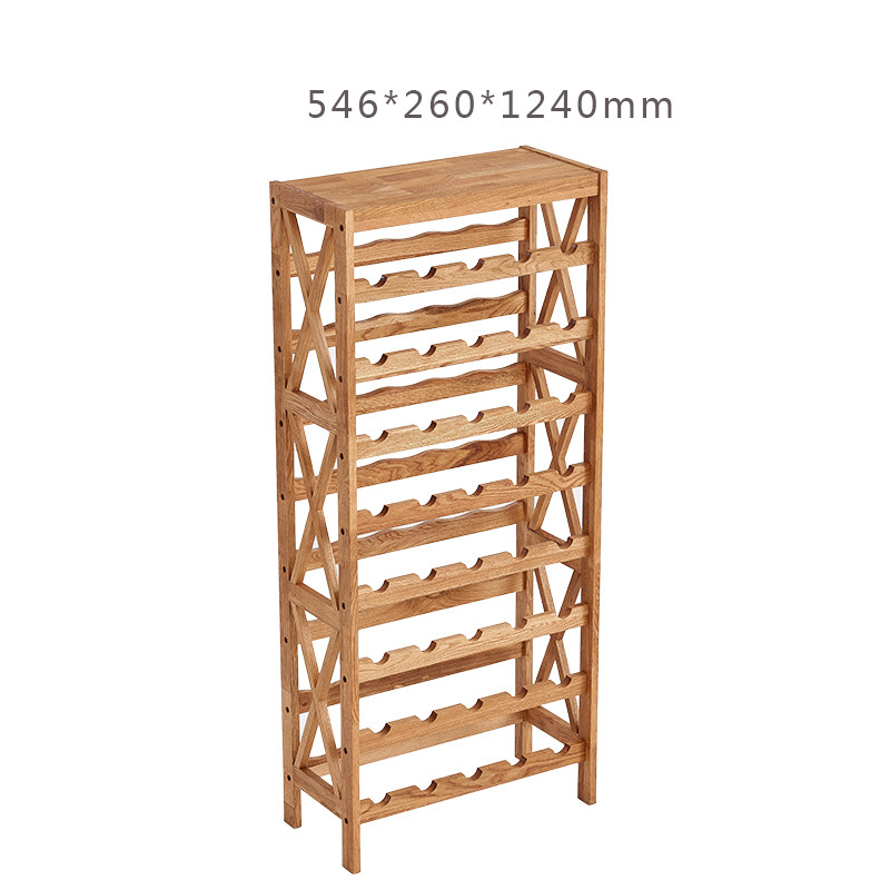 Modern Wooden Wine Rack Cabinet Display Shelf Bar Globe For Home Furniture Oak Wood 25 40 Bottles Holders Storage In Cabinets From