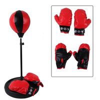 Kids Full Boxing Punching Set With Punching Bag Gloves And Adjustable 105cm High Boxing Stand