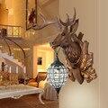 Американская прикроватная настенная лампа с оленями  модная винтажная лампа с оленем