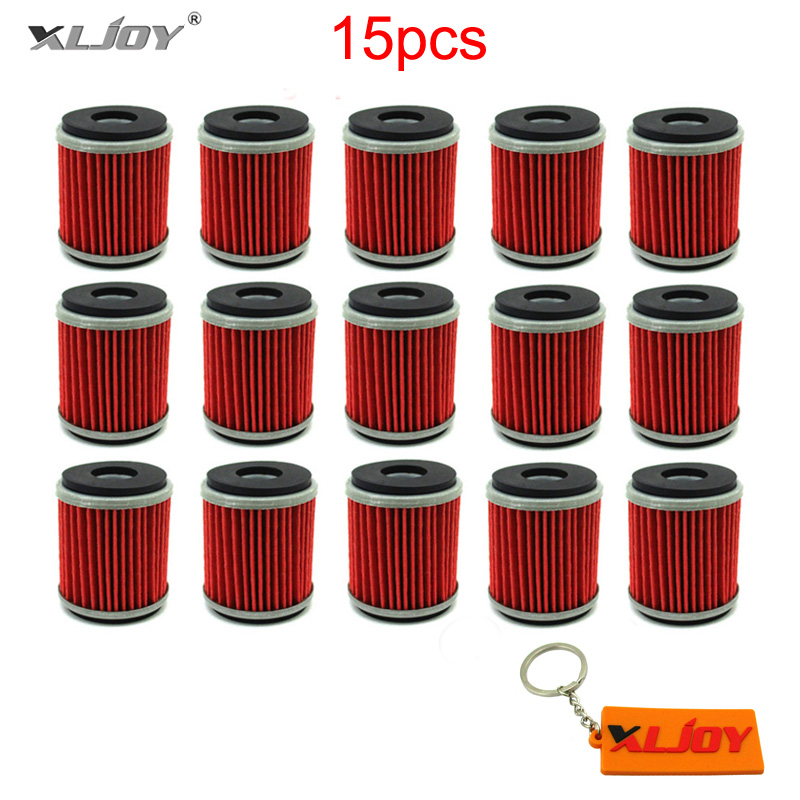 15x Oil Filter For Yamaha YZF R125 125 WR 125R 125X YZ 250 250F 450F 450