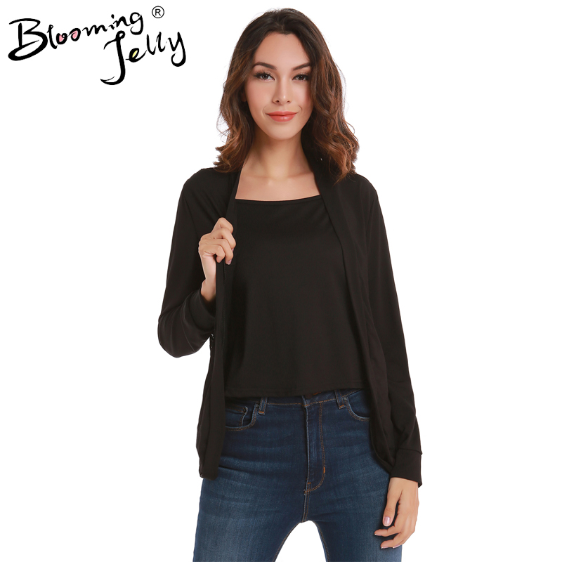 Blooming Jelly Floral Lace Black Cardigan Kimono Crochet Top Women See Through Open Blouse Patchwork Women