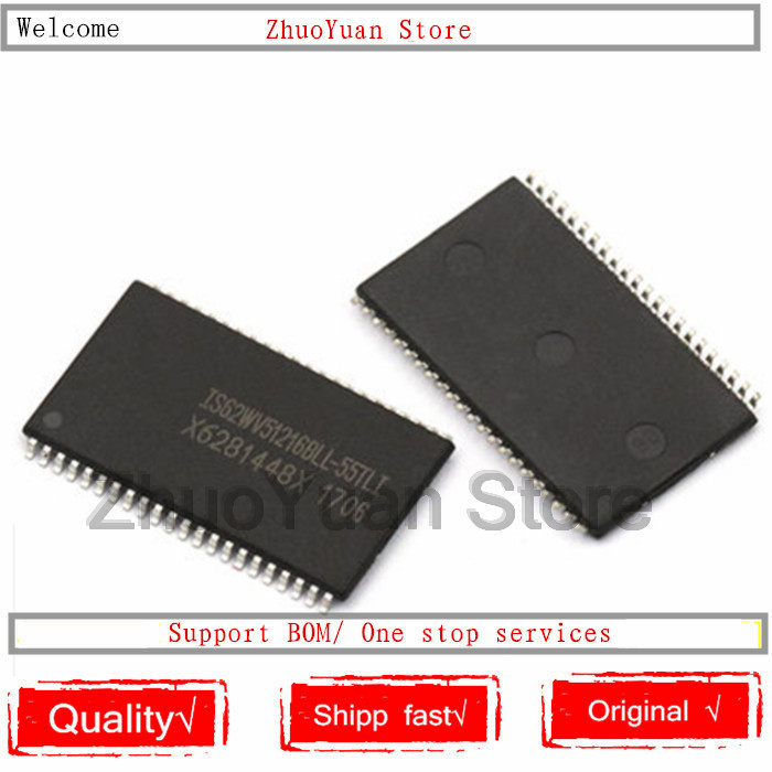 1PCS New Original IS62WV51216BLL-55TLI IS62WV51216BLL IS62WV51216 SRAM Static Random Access Memory IC Chip