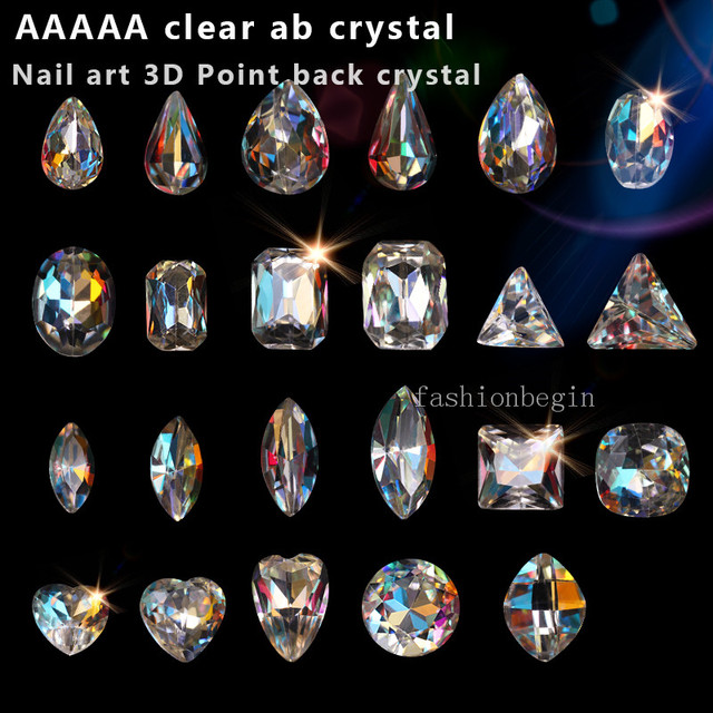 ecb0e2d73dae5 US $4.5 |30p Top czech Crystal AB Multi Shape Glass Rhinestones point  foiled back Nail Art Decoration jewelry necklace earring repair Gem-in  Beads ...