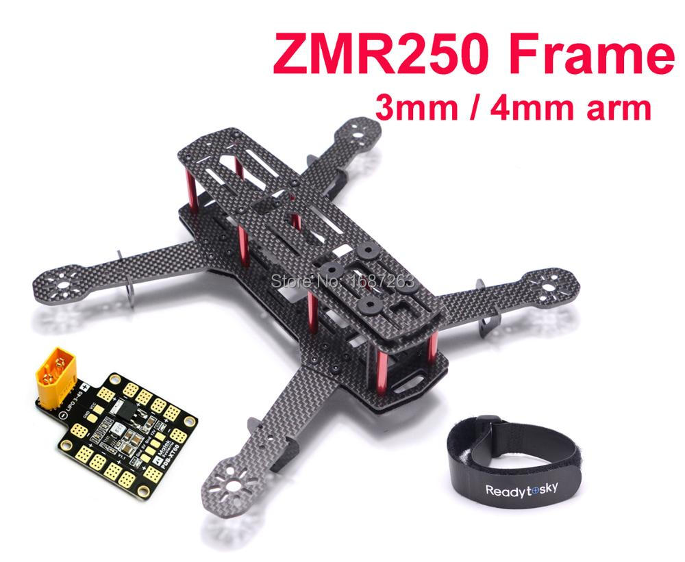 ZMR250 250mm Kohlefaser Quadcopter Rahmen Kit mit 3mm/4mm arm ...